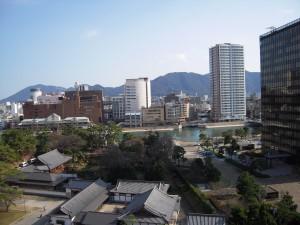 A view of Kita Kyushu from Kokura Castle